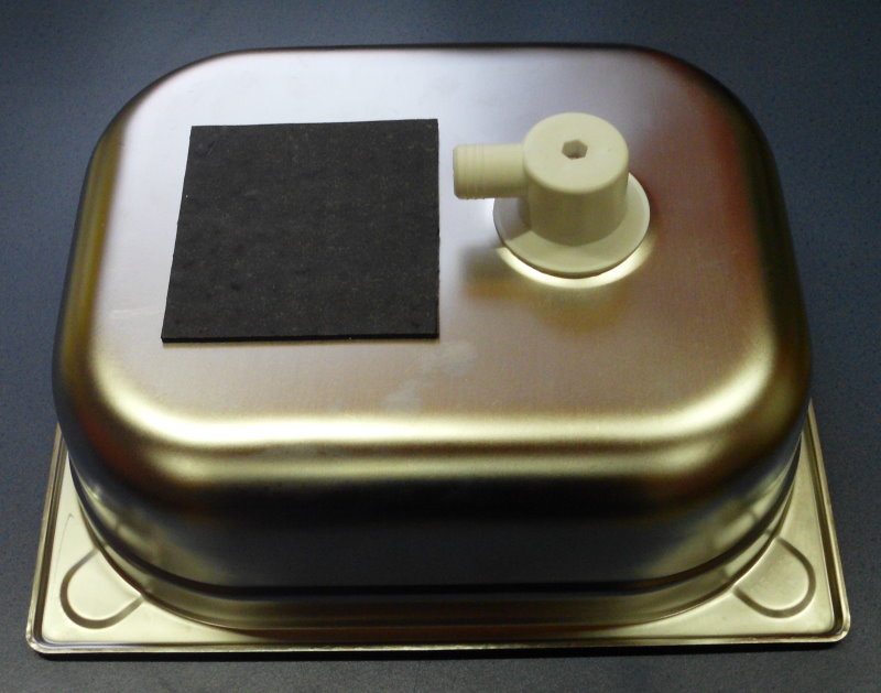 sp le sp lbecken va 100 mm mit edelstahlablauf wohnmobil. Black Bedroom Furniture Sets. Home Design Ideas