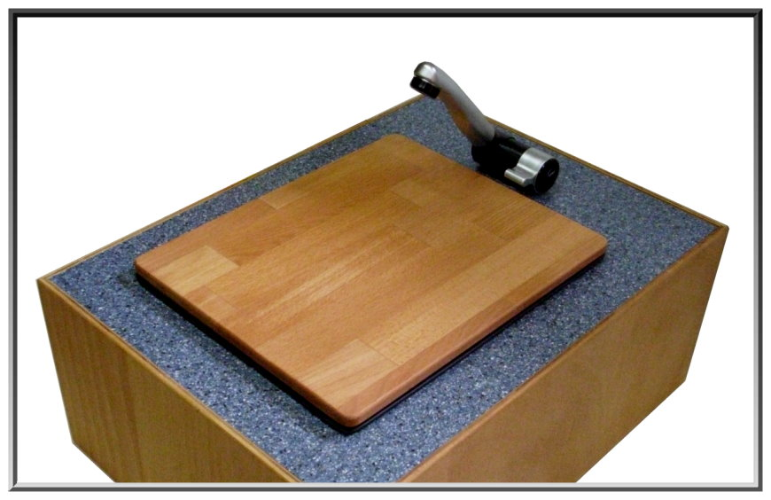 sp le sp lbecken wohnmobil mit abdeckung buche 325x265. Black Bedroom Furniture Sets. Home Design Ideas